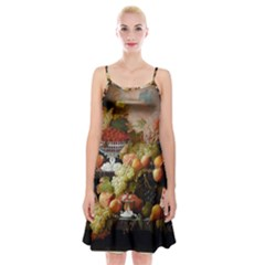 Abundance Of Fruit Severin Roesen Spaghetti Strap Velvet Dress