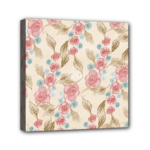 Background Page Template Floral Mini Canvas 6  X 6