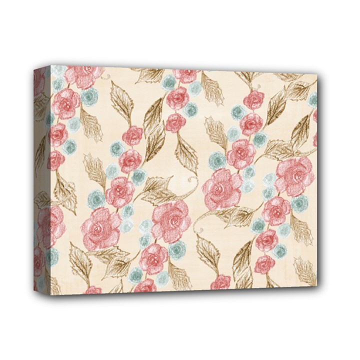 Background Page Template Floral Deluxe Canvas 14  x 11
