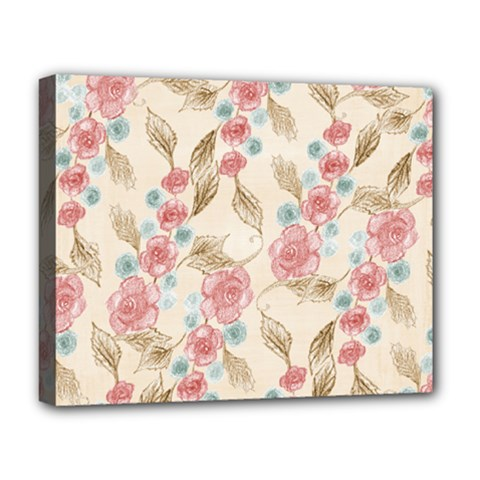 Background Page Template Floral Deluxe Canvas 20  X 16