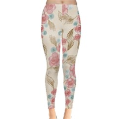 Background Page Template Floral Leggings