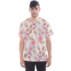 Background Page Template Floral Men s Sport Mesh Tee