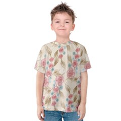 Background Page Template Floral Kids  Cotton Tee