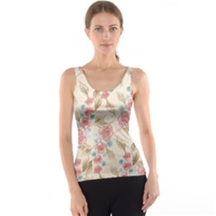 Background Page Template Floral Tank Top