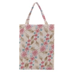 Background Page Template Floral Classic Tote Bag