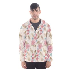 Background Page Template Floral Hooded Wind Breaker (men)