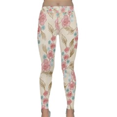 Background Page Template Floral Classic Yoga Leggings