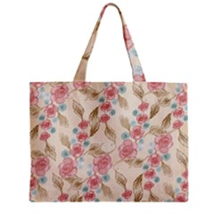 Background Page Template Floral Zipper Mini Tote Bag