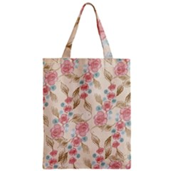 Background Page Template Floral Zipper Classic Tote Bag