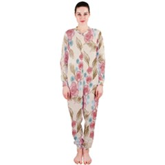 Background Page Template Floral Onepiece Jumpsuit (ladies)