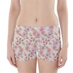 Background Page Template Floral Boyleg Bikini Wrap Bottoms