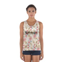 Background Page Template Floral Women s Sport Tank Top
