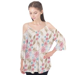 Background Page Template Floral Flutter Tees