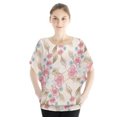 Background Page Template Floral Blouse