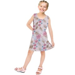 Background Page Template Floral Kids  Tunic Dress