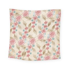 Background Page Template Floral Square Tapestry (small)