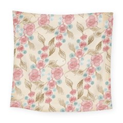 Background Page Template Floral Square Tapestry (large)