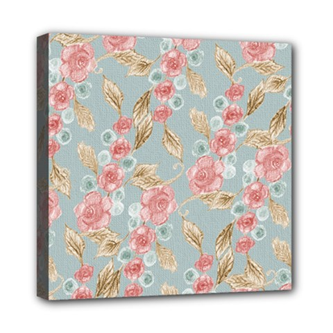 Background Page Template Floral Mini Canvas 8  X 8