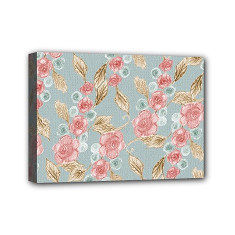 Background Page Template Floral Mini Canvas 7  X 5
