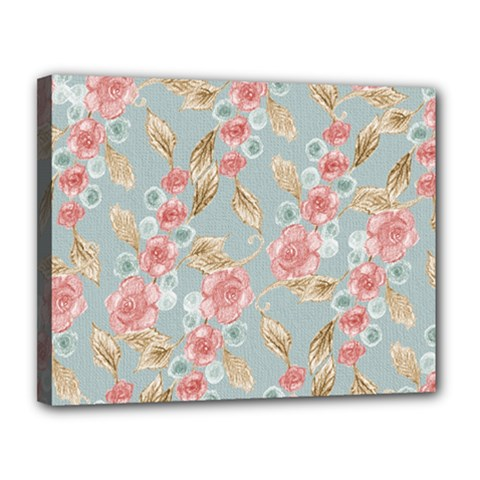Background Page Template Floral Canvas 14  X 11