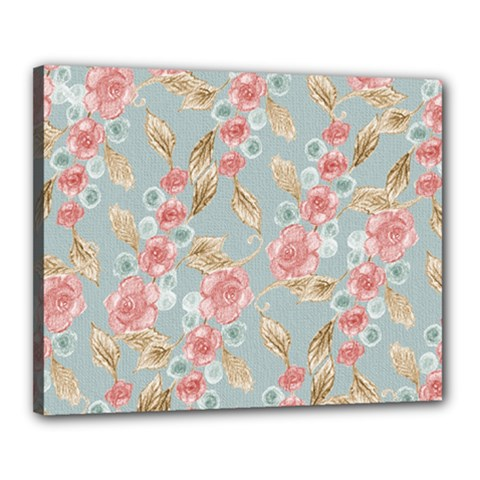 Background Page Template Floral Canvas 20  x 16