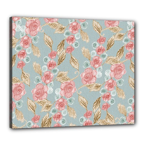Background Page Template Floral Canvas 24  X 20