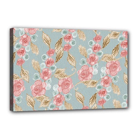 Background Page Template Floral Canvas 18  X 12