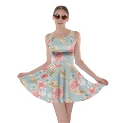 Background Page Template Floral Skater Dress