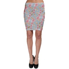 Background Page Template Floral Bodycon Skirt