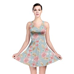 Background Page Template Floral Reversible Skater Dress