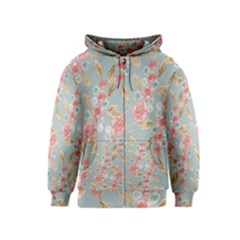Background Page Template Floral Kids  Zipper Hoodie