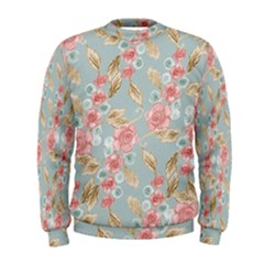 Background Page Template Floral Men s Sweatshirt