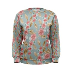Background Page Template Floral Women s Sweatshirt