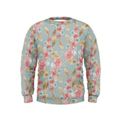 Background Page Template Floral Kids  Sweatshirt
