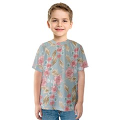 Background Page Template Floral Kids  Sport Mesh Tee