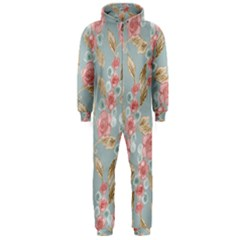 Background Page Template Floral Hooded Jumpsuit (men)