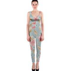Background Page Template Floral Onepiece Catsuit