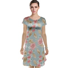 Background Page Template Floral Cap Sleeve Nightdress