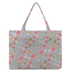 Background Page Template Floral Medium Zipper Tote Bag
