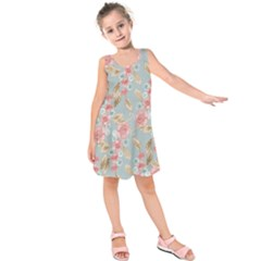 Background Page Template Floral Kids  Sleeveless Dress
