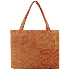 Burnt Amber Orange Brown Abstract Mini Tote Bag