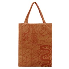 Burnt Amber Orange Brown Abstract Classic Tote Bag