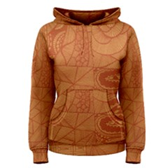Burnt Amber Orange Brown Abstract Women s Pullover Hoodie