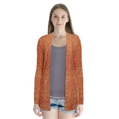 Burnt Amber Orange Brown Abstract Cardigans