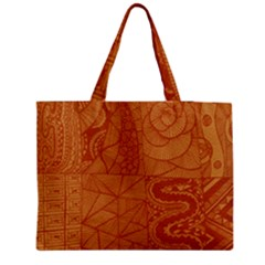 Burnt Amber Orange Brown Abstract Medium Tote Bag