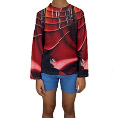 Fractal Mathematics Abstract Kids  Long Sleeve Swimwear