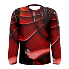 Fractal Mathematics Abstract Men s Long Sleeve Tee