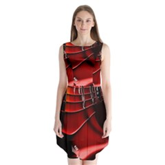 Fractal Mathematics Abstract Sleeveless Chiffon Dress