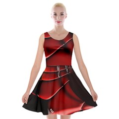 Fractal Mathematics Abstract Velvet Skater Dress