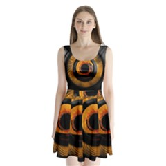 Fractal Mathematics Abstract Split Back Mini Dress
